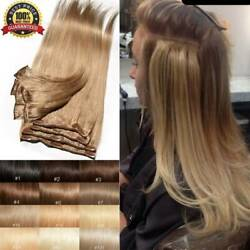 CLEARANCE Clip In 100% Real Remy Human Hair Extensions Full Head Highlight US Ss $41.53