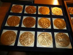 24- German- Replica Gold Medal Heavy Coins- 1906-1984-from Germany- Very Rare -