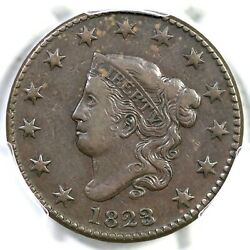 1823/2 N-1 R-2 Pcgs Vf 30 Matron Or Coronet Head Large Cent Coin 1c