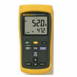 Fluke 52 Ii Dual Input Digital Thermometer With Two 80pk-1 Thermocouples New Uy