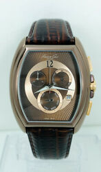 Kenneth Cole Swiss Menand039s Ks1022 Brown Leather Multifunction Chronograph Watch