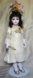 Bebe Bru jne 13 bisque doll  Rare Antique lace costume by Mary Lambeth