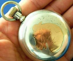 Antique 1891 Elgin 18s Coin Silver And 14k Gold Pocket Watch 156 G Runs