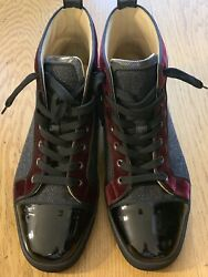 Christian Louboutin Men Tweed With Patient Leather Rare Men Boots