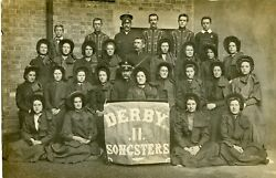 Derby Salvation Army Derby Ll Songsters Christ Church Band Of Hope Team 1910