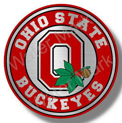 Ohio State Buckeyes Big 10 College Football Sticker Decal Stainless Steel Look