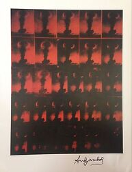 Cold War Andy Warhol Hand Signed Signature Atomic Bomb Print