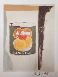 Del Monte Andy Warhol Hand Signed Signature Peach Halves Print