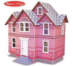 🚛Fast Shipping! {NEW} Melissa Doug Classic Heirloom Wooden Victorian Dollhouse