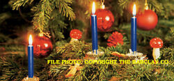 New Gurley Christmas Tree And Chime Candles, Dark Blue, Box Of 12