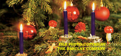 New Gurley Christmas Tree And Chime Candles, Purple, Box Of 12