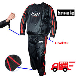 Sauna Sweat Suit Heavy Duty Exercise Gym Training Suit Fitness Weight Loss New