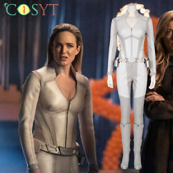Legends Of Tomorrow White Canary Sara Lance Cosplay White Jumpsuit Full Set