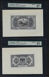 Russia Face And Back 25 Rubble 1918 P39abp Proof Essay Uncirculated