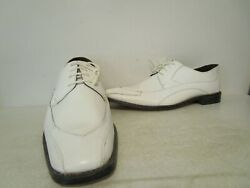 Stacy Adams Mens Domingo Leather Exotic Print Oxford Dress Shoe White 9.5 - 14