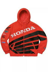 SUPREME Honda Fox Puffy Zip Up Jacket • RED • M• CONFIRMED • FREE SHIPPING