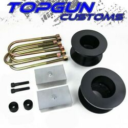 2 Front + 1 Rear Lift Kit + Bump Stop Drop For 2005-2020 Ford F250 Super Duty