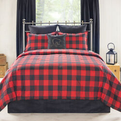 Classic Red And Black Plaid Comforter Bedding Set Shams Skirt Add Panels And More