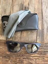 Rayban Light Ray Wayfarer Sunglasses Blue Metal Frame $69.99