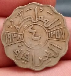 4 Fils Km 105a 1938 I Bombay Ah 1357 Dinars Middle East Coin From Kayihan 210