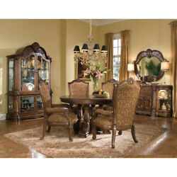 Aico Furniture - Windsor Court 5 Piece Round Dining Table Set In Vintage Frui...