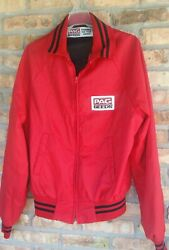 Pag Seeds Jacket 1980and039s Vintage Seed Corn Advertising Farmer Red Vintage Bomber