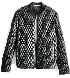 Porsche Design Mens Leather  Jacket Limited Edition Size 52 Italy