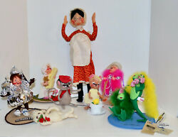 Annalee Mobilitee Huge Lot Of 8 Dolls Some Autograph Signed Lot 1