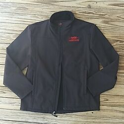 🌹coca Cola Bottling Co. Consolidated Embroidered Logo Leather Jacket Size M🌹