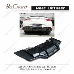 Carbon Bottom Kit For 15-17 Mercedes Benz C217 S63 Coupe Psm Rear Diffuser