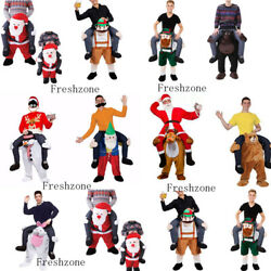 Unisex Christmas Party Clothing Outfits Ride On Mascot Costume Adult Fancy Dress