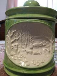 Lidded Hershey 3d Mold 1978 Cookie Jar Canister Lime Green Rare Estate Piece