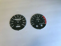 Yamaha Dt250, Dt400 Tachometer And Speedometer Face Plates, Service To Install