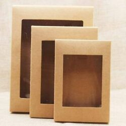 Kraft Paper Box For Weddings Party Muffin Packaging Gift Boxes With Window
