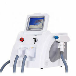 2 In1 Opt Shr Ipl Rf Therapy Hair Removal Nd Yag Laser Tattoo Removal Machine