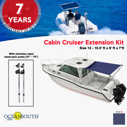 Oceansouth Cabin Cruiser Extention Blue 10.5and039 X8and039 X 7 Ft