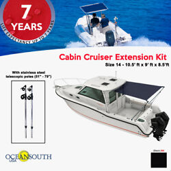 Oceansouth Cabin Cruiser Extention Black 10.5and039 X 9and039 X 8.5 Ft