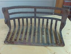 Antique Fireplace Cast Iron Grate 4 Hooks 17 3/4 Apart Od 16 3/4 Id 1800's
