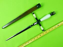 Us Custom Made William Bill R. Herndon Large Dagger Fighting Knife And Scabbard
