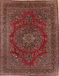 Antique Floral Dorokhsh Oriental Hand-knotted Dining Room Area Rug Carpet 11x14