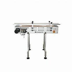 New Globaltek S/s 4and039 X 7.5 Conveyor With Dual Post Welded Base End Plates