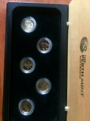 Rare 2007 Perth Mint Set Of 15 X 1/10th Of A Once Gold 24 Ct 0.999 Proof Coins
