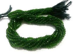 50 Strands Lot Chrome Diopside Rondelle Faceted 3-4mm Hydro Beads 13inch