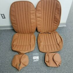Jaguar Xke Series 2 Fhc, Roadster, 2+2, Seat Covers And Headrests Perforated- Tan