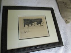Marguerite Kirmse Signed Etching West Highland Terrier 'Ma Bonnie Bairns'