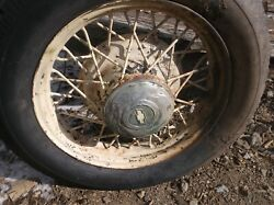 Chevrolet16 Spoke Steel Wheel Rims 1930and039s With Axle Or Separate