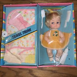 Vintage Eg Goldberger Co Baby Layette And Her Travel Trunk Rare Doll Sealed 3129