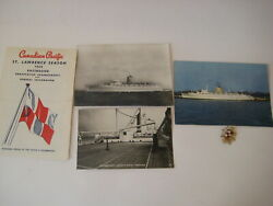 Vtg 1959 Cruise Ship Lot Ss Empress Of Britain Canadian Pacific St. Lawrence Pin