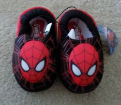 Spiderman Boys Slippers NWT Sizes 5 6 free shipping