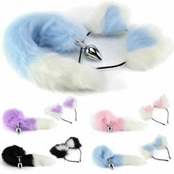Fox Tail And Ears Anal-Butt Plug Romance Game Funny Toy CAT Cosplay US STOCK